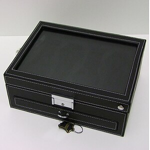 Uhrensammlerbox 4er Cecil Watch 324214 Collector's Box schwarz - 35357