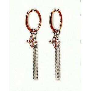 JOOP! Jewellery Silber-Creolen Flora roségoldfarben JJ 0832