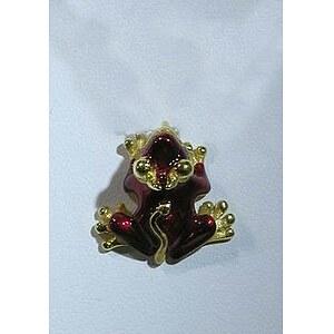 Drachenfels Frogologie Silber-Anhänger Devil Frog rot goldplattiert  D FRO 33-2 AGG