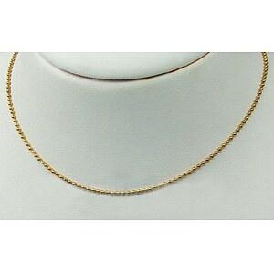 Drachenfels Design Silber-Kugelkette goldfarben plattiert 45cm D KK 52 AGG
