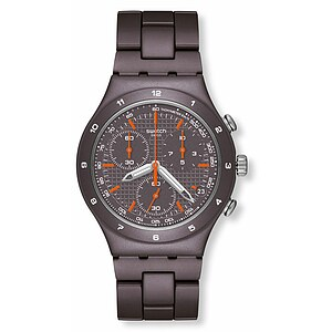 Swatch YCC 4000 AG  Camouflage Collection Irony Chrono Brown Coat