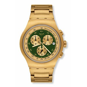 Swatch Uhr YOG 406 G Irony The Chrono Golden Block Green - 53398
