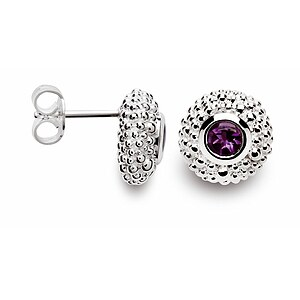 Bastian 10272 Inverun Earrings Silber Ohrstecker Amethyst - 53440