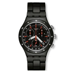 Swatch YCB 4019 AG Camouflage Collection Irony Chrono Black Coat
