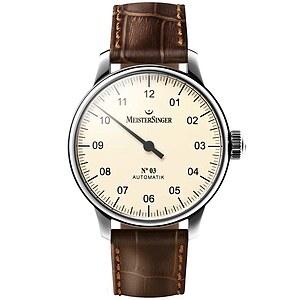 Meistersinger AM903 der Uhren-Serie N°03 Automatik - Die Einzeigeruhr