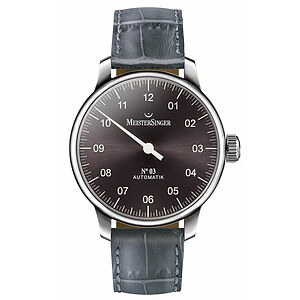 Meistersinger AM907 der Uhren-Serie N°03 Automatik - Die Einzeigeruhr