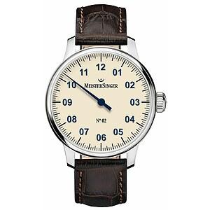 Meistersinger AM6603N der Uhren-Serie N°02 Handaufzug - Die Einzeigeruhr