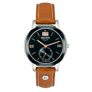 Bruno Söhnle Glashütte Uhren-Serie 17-73147-735 Damenuhr mit Grossdatum Facetta