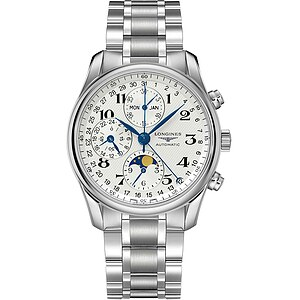 Longines Uhren L2.673.4.78.6 Automatik-Chronograph Mondphase Master Collection - 55963