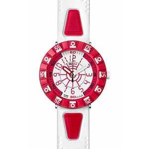 Flik Flak Uhren FCS028 Boy Kinderuhr Full-Size (7+) Shaped White & Red - 56627