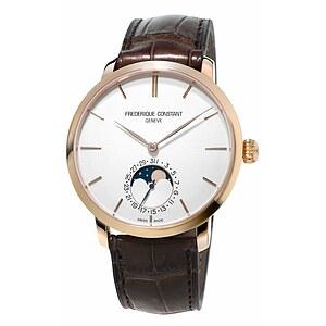Frederique Constant Herrenuhr FC-705V4S4 der Uhrenserie Slimline Manufacutre Moonphase