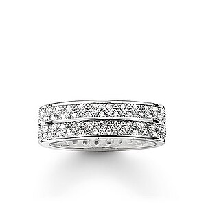 Thomas Sabo TR2051-051-14 GLAM & SOUL Silver Ring ZIGZAG Kristalle weiß - 57282