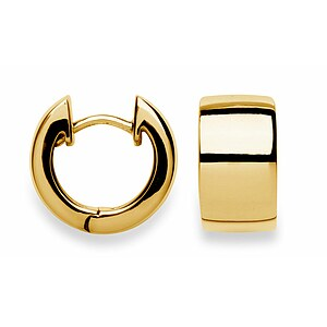 Bastian 3500390050 Inverun Silber Creolen vergoldet poliert Ø 1,3 cm