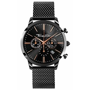Thomas Sabo Uhren-Serie WA0247-202-203 ETERNAL REBEL CHRONO Mesh Black Ros� - 57794