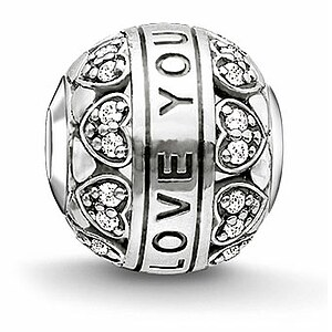 Thomas Sabo K0211-643-14 KARMA BEADS Silver Bead I LOVE YOU - 57801