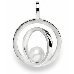 Bastian 12202 Inverun Pendant Silber Anhänger Perle weiß