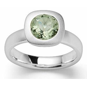 Bastian 12856 Inverun Silber Ring Grüner Amethyst - 56