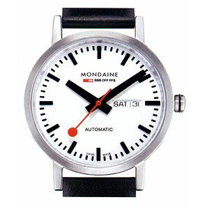 Mondaine Uhren A132.30359.16SBB Bahnhofsuhr Classic Automatic 40 mm mattiert