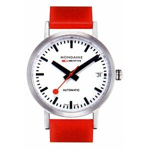 Mondaine Uhren A128.30008.16SBC Bahnhofsuhr Classic Automatic 33 mm mattiert rot