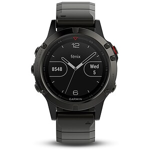 Garmin fenix 5 Saphir Grau Metall Multisport GPS Smartwatch - Garmin 010-01688-21 - Verfügbarkeit: April 2017 - 63285