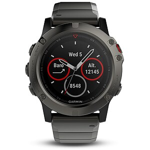 Garmin fenix 5X Saphir Grau Metall Multisport GPS Smartwatch - Garmin 010-01733-03 - Verfügbarkeit: April 2017 - 63287