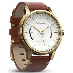 Garmin Vivomove 010-01597-21 Premium weiss/gold mit Lederband