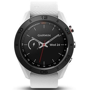 Garmin Approach S60 Weiße GPS-Golfuhr mit weißem Silikon Armband - Garmin 010-01702-01