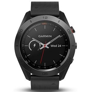 Garmin Approach S60 - Premium mit Keramik Lünette - GPS-Golfuhr mit Lederarmband - Garmin 010-01702-02