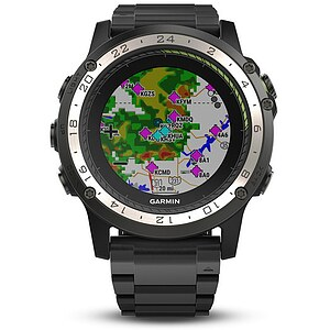 Garmin D2™ Charlie Aviator Watch Titanium Aviation GPS-Uhr Multisport GPS Smartwatch - Garmin 010-01733-33 - 63384
