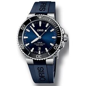 Oris Aquis Date 733 7730 4135 RB blau aus der Oris Uhren Serie Aquis