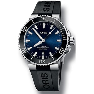Oris Aquis Date 733 7730 4135 RB schwarz aus der Oris Uhren Serie Aquis
