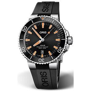 Oris Aquis Date 733 7730 4159 RB schwarz aus der Oris Uhren Serie Aquis