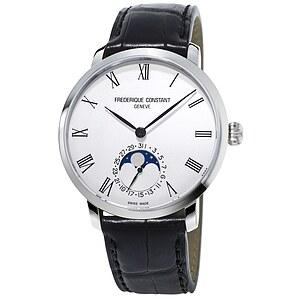 Frederique Constant Slimline Manufacutre Moonphase Herrenuhr FC-705WR4S6 der Uhrenserie Slimline Manufacutre
