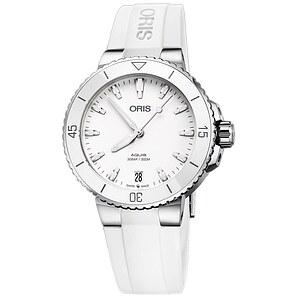Oris Aquis Date 733 7731 4151 KB weiss aus der Oris Uhren Serie Aquis