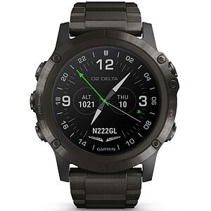 Garmin D2™ Delta PX Sapphire Karbon Grau DLC Titanium - Aviation GPS-Uhr Multisport GPS Smartwatch - Garmin 010-01989-31