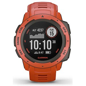 Garmin Instinct Hellrot/Schiefergrau 010-02064-02 Outdoor GPS Smartwatch - Garmin Instinct Flaem Red 010-02064-02 - 63736