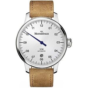 Meistersinger DM901 der Uhren-Serie N°03 - 40 mm Automatik - Die Einzeigeruhr