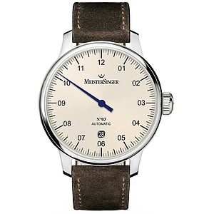 Meistersinger DM903 der Uhren-Serie N°03 - 40 mm Automatik - Die Einzeigeruhr