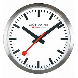 Mondaine Official Swiss Railways Smart stop2go Clock MSM.25S10 - 63769