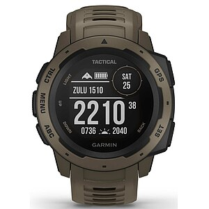 Garmin Instinct - Tactical Edition 010-02064-71 Outdoor GPS Smartwatch - Garmin Instinct Tactical Edition - 63806