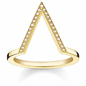 Thomas Sabo D_TR0020-924-14 GLAM & SOUL Silver gelbgoldfarben Ring TRIANGLE Diamonds Pavé weiß - 66028