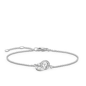 Thomas Sabo D_A0006-725-14 GLAM & SOUL Silver Armband TOGETHER FOREVER Diamant weiß 19,5 cm - 66145