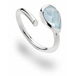 Bastian 12417 Inverun Silber Ring Blautopas