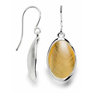 Bastian 12439 Inverun Silber Ohrhänger teilvergoldet kratzmatt
