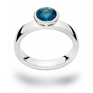 Bastian 12335 Inverun Silber Ring Topas London Blue - 66191