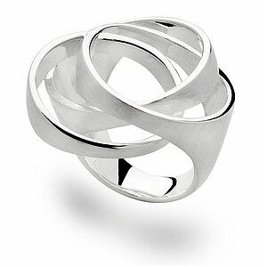 Bastian 12395 Inverun Silber Ring mattiert/poliert