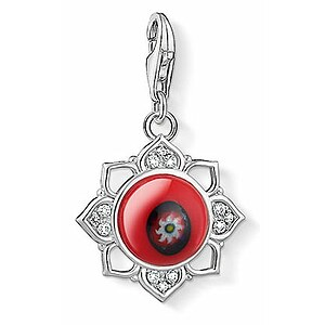 Thomas Sabo CC 1441-052-10 Anhänger Red Glass Lotus Flower CHARM CLUB Rote Glas Lotos Blüte - 66360