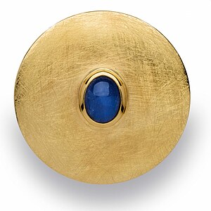 Bastian 12508 Inverun Pendant Silber Anhänger kratzmatt teilvergoldet - blau