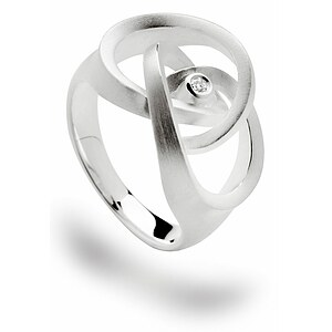 Bastian 12522 Inverun Silber Ring mattiert Diamant
