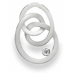 Bastian 12523 Inverun Silber Anhänger mattiert Diamant